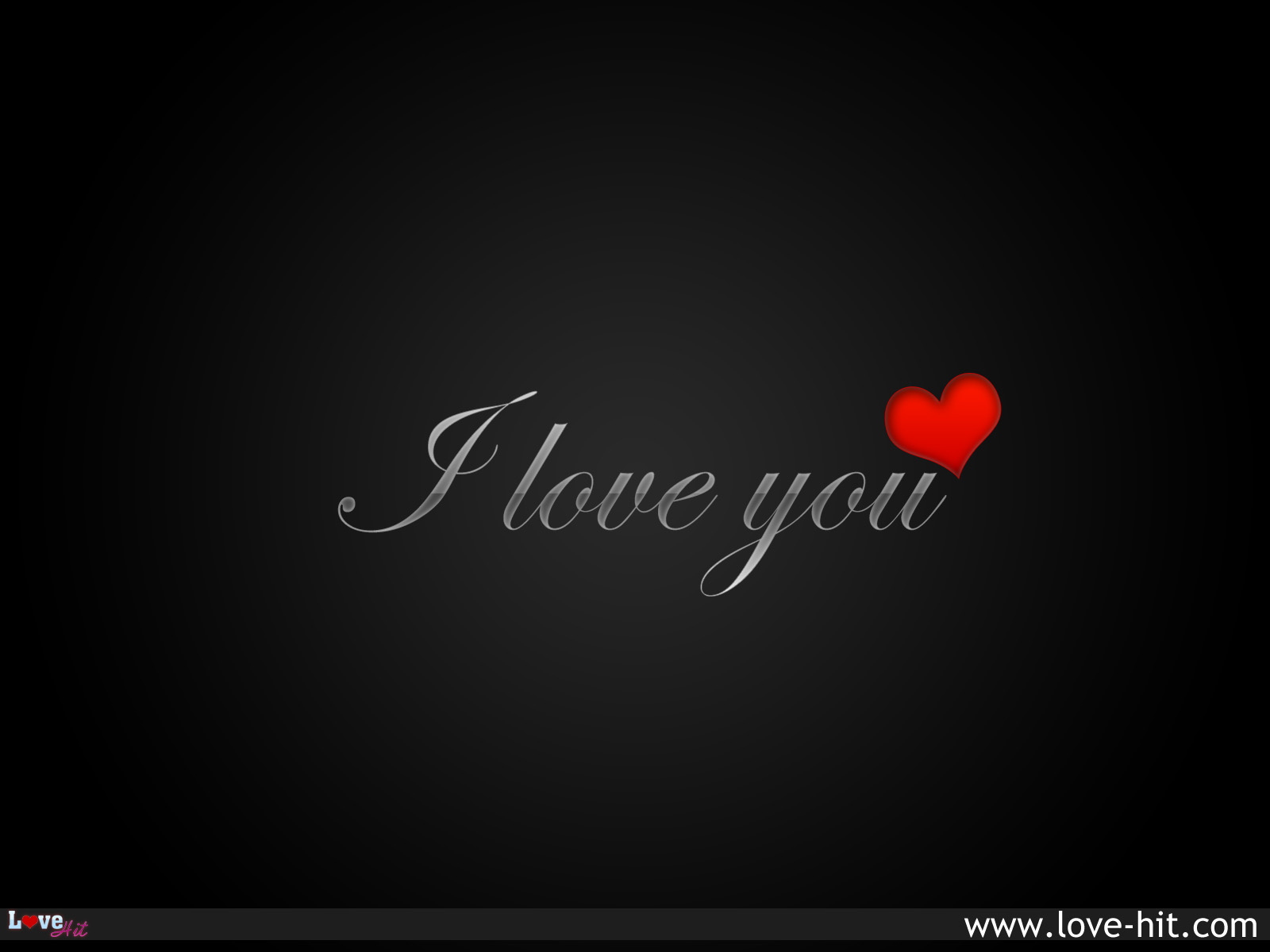 I Love you- silver text
