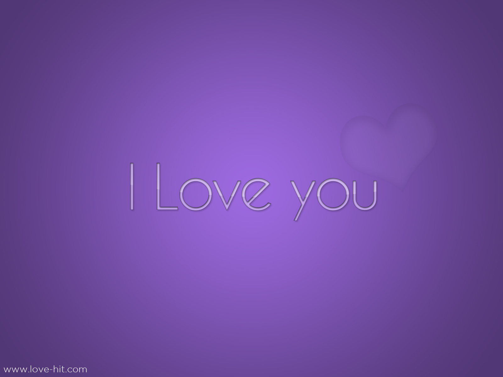 I Love you - Purple