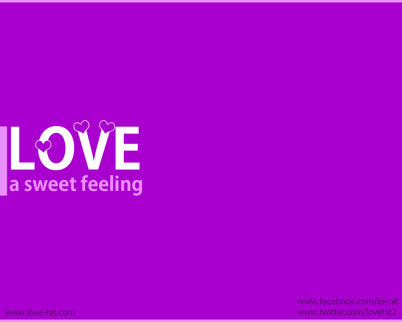Love: a sweet feeling