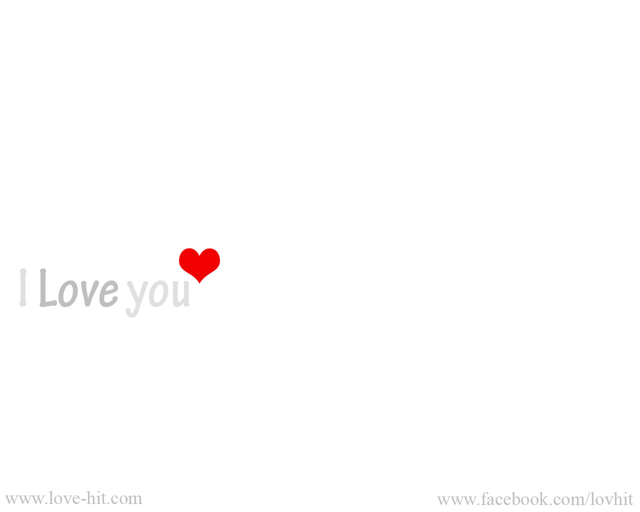 I Love you Grey text Red Heart
