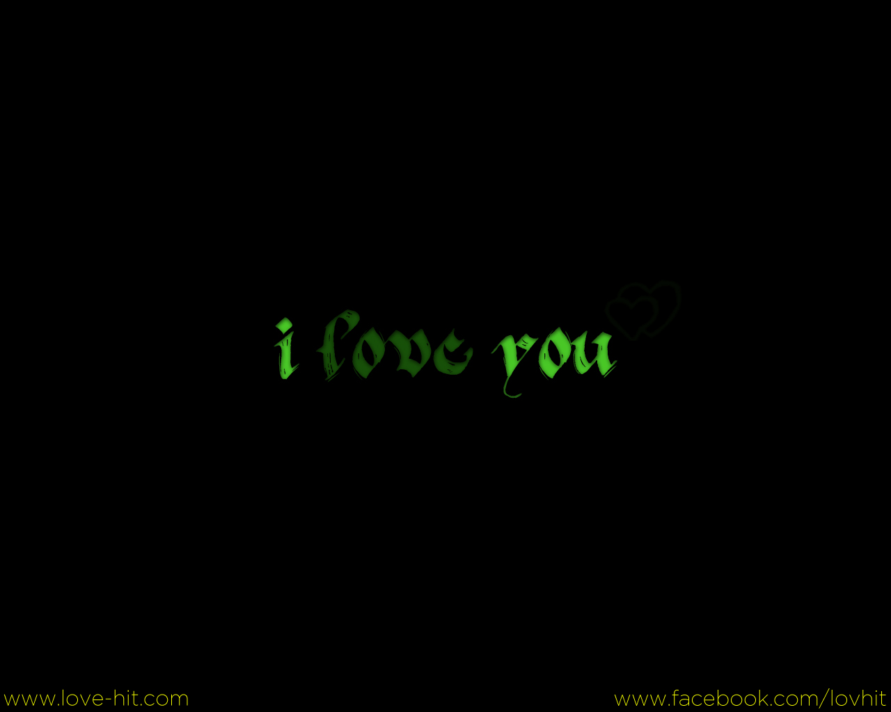 i love you green
