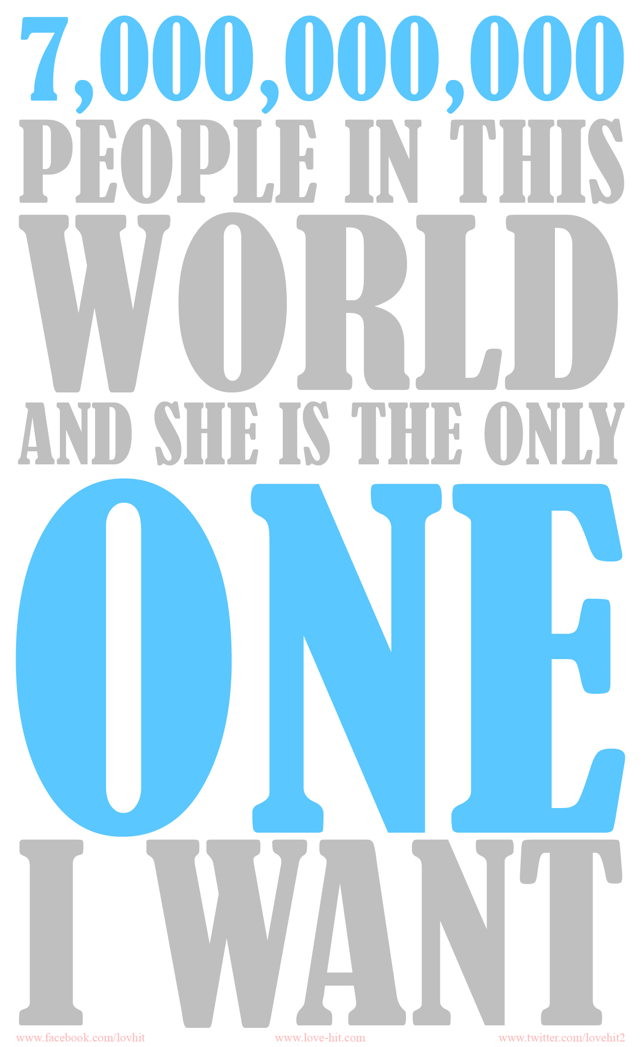 She is the one I want