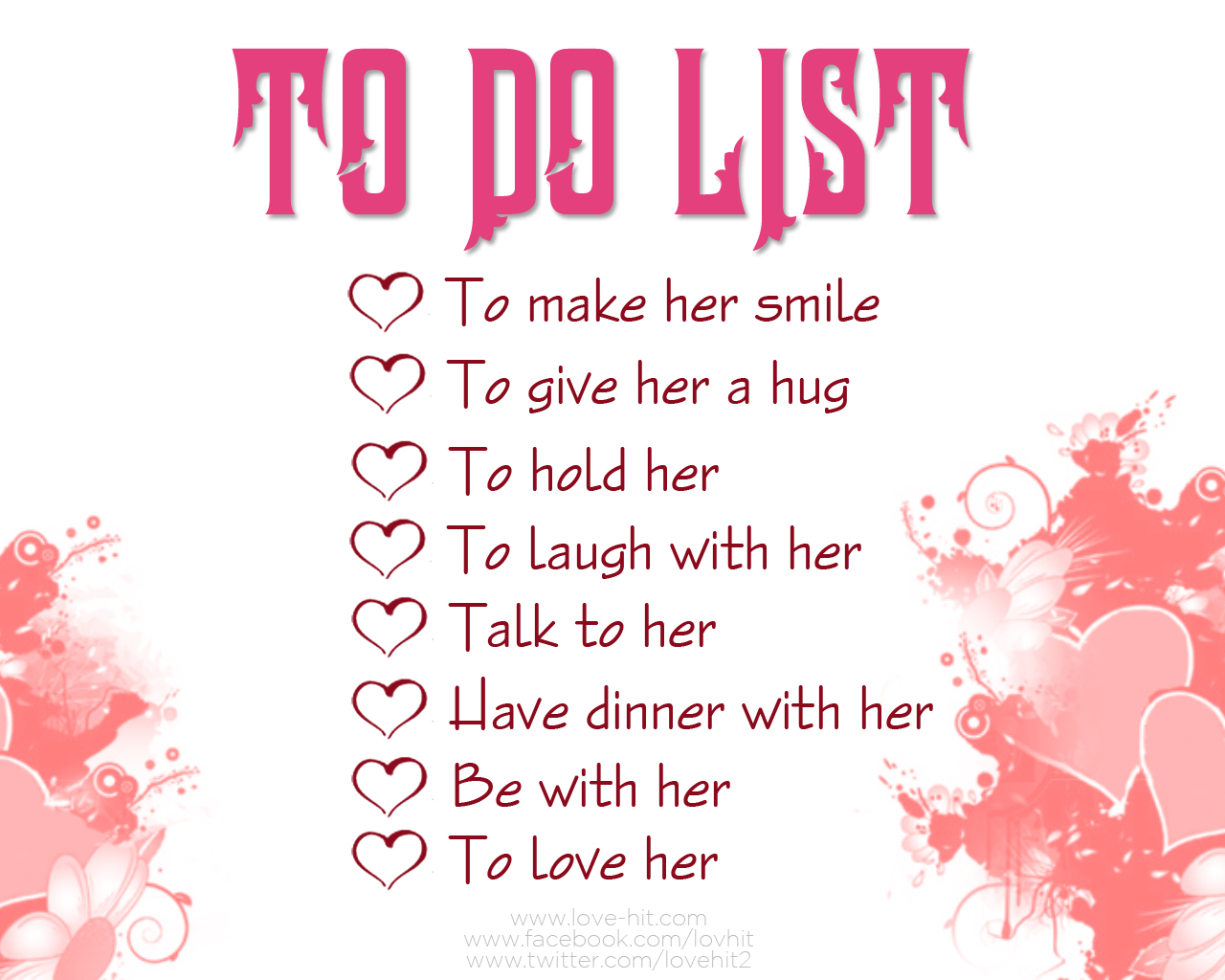To Do list for husband