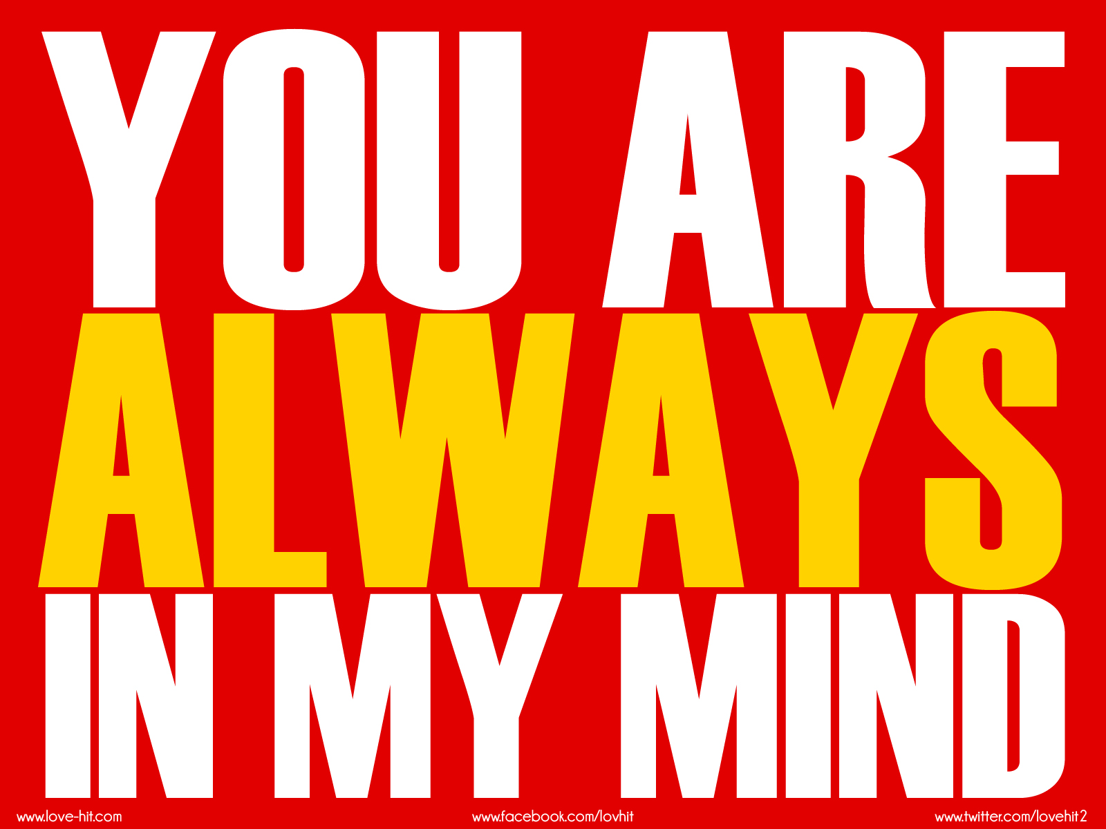 You are always in my mind