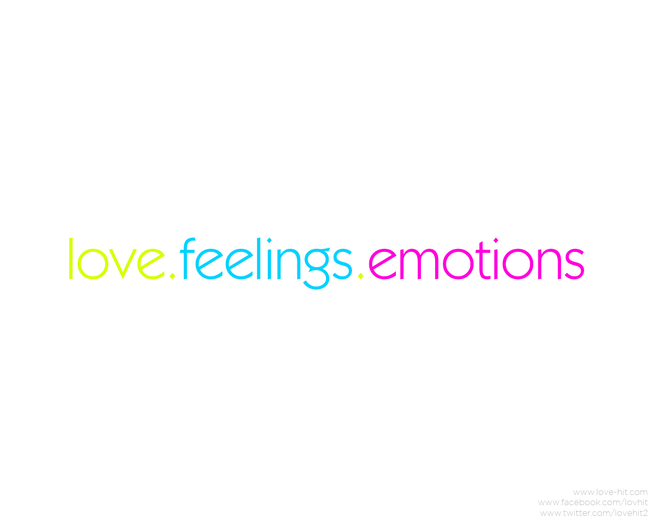 Love: feelings and emotions