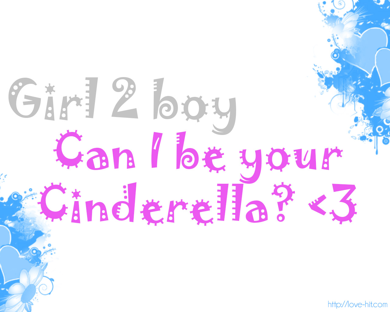 Can i be your cinderella