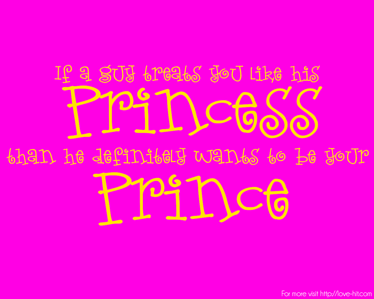 Cute Princess love quote