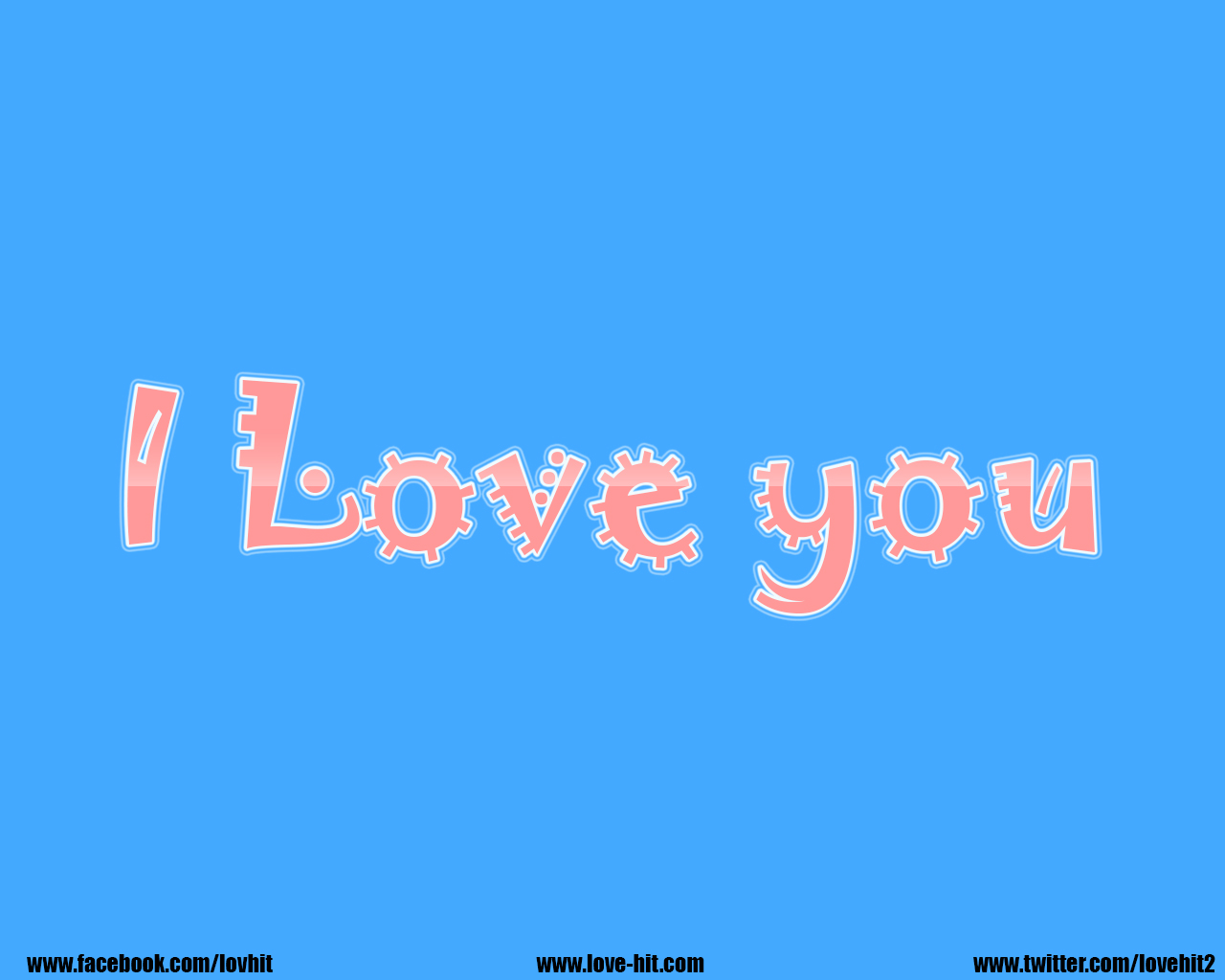 I love you - light blue