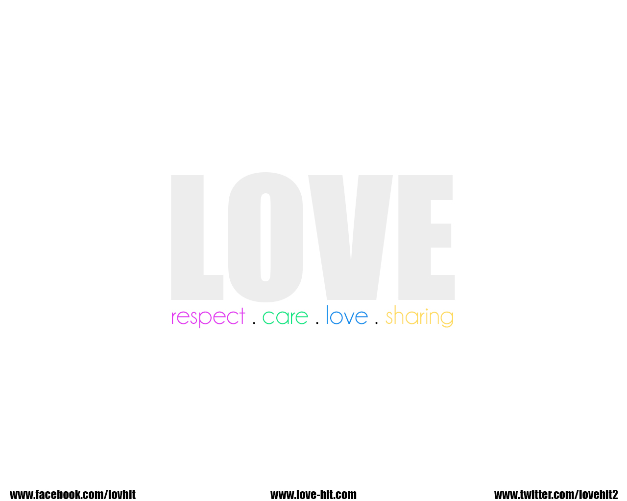 Love is respect care love and share